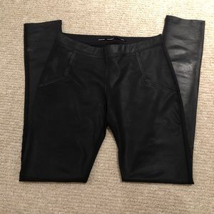 Zara Coated Moto Leggings
